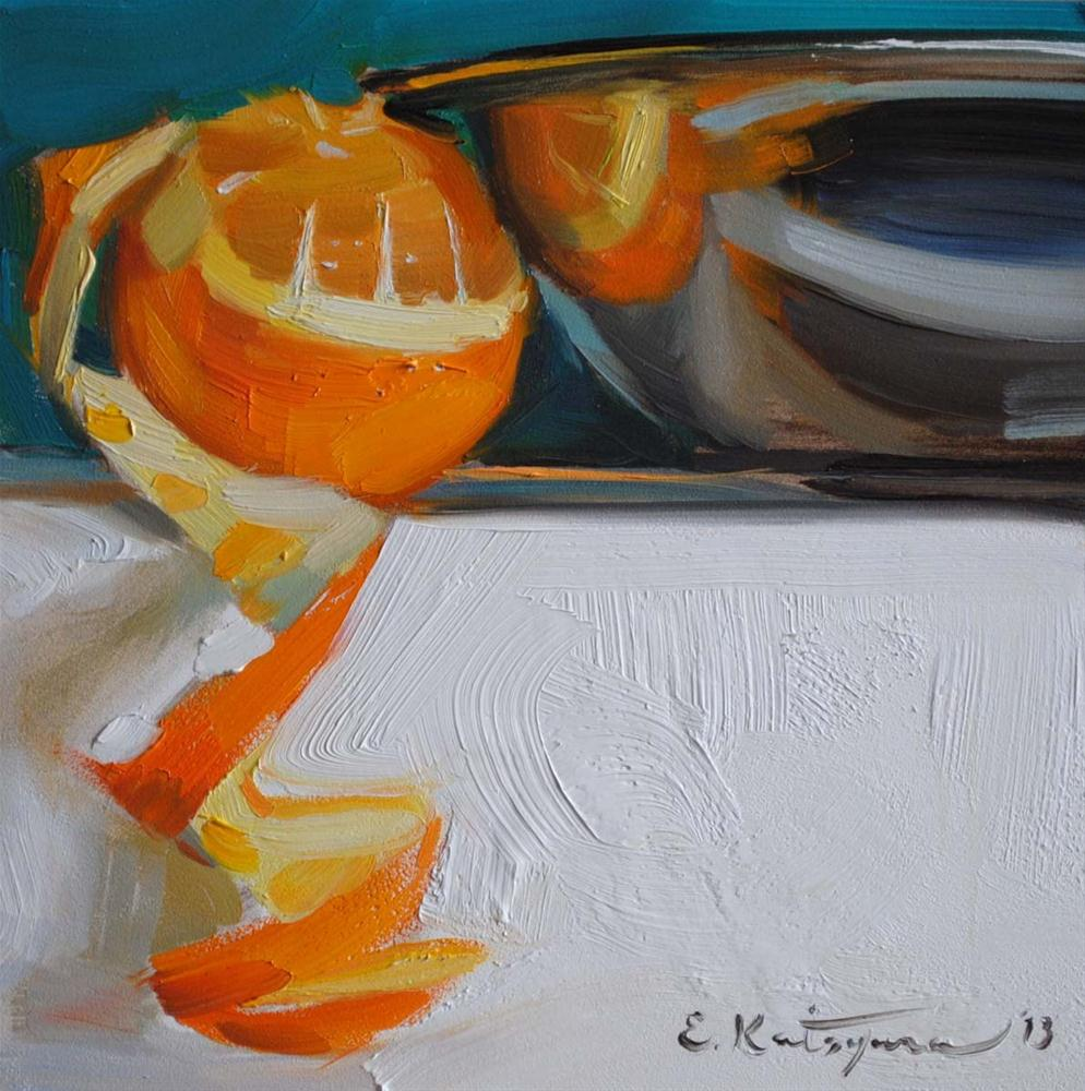 """Orange Reflection"" original fine art by Elena Katsyura"