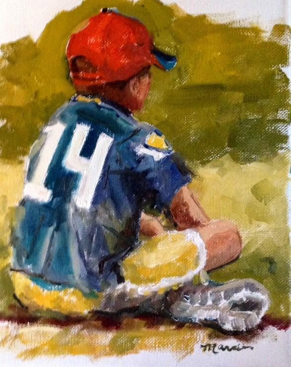 """Future Seahawk"" original fine art by Marcia Hodges"