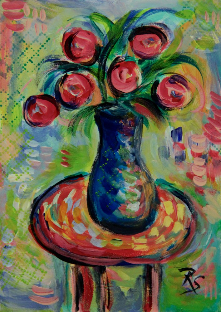 """Summer Flowers #4"" original fine art by Roberta Schmidt ArtcyLucy"