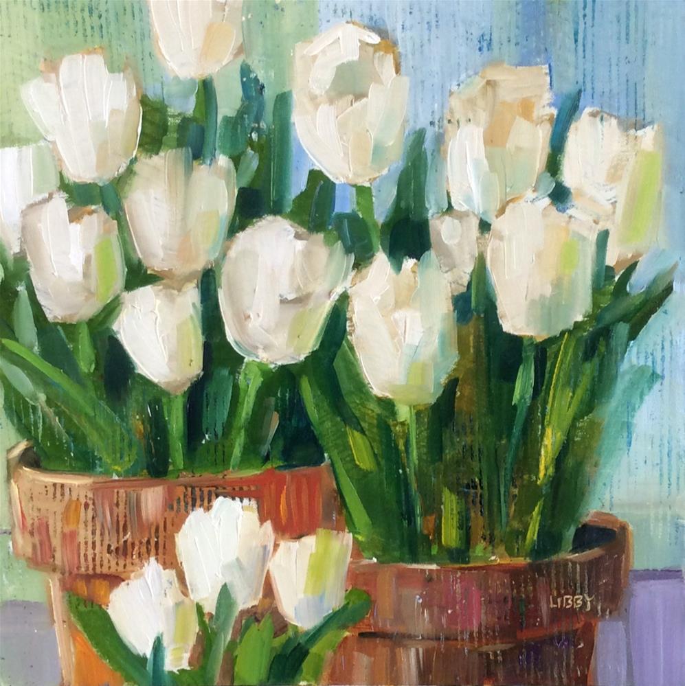 """Tulip Squared"" original fine art by Libby Anderson"
