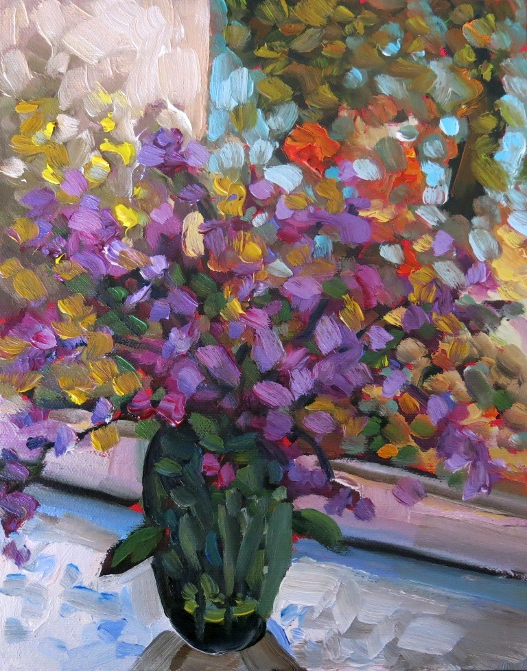 """8 - BY THE WINDOW"" original fine art by Dee Sanchez"