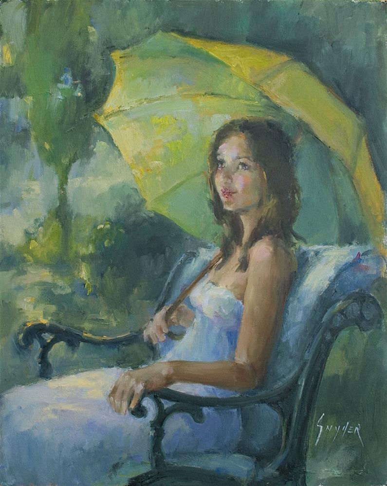 """A Little Shade"" original fine art by Julie Snyder"
