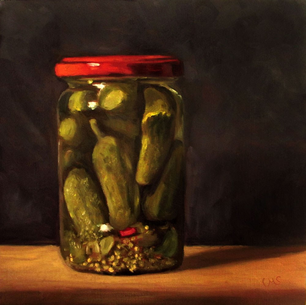 """Pickled Gherkins"" original fine art by Ulrike Miesen-Schuermann"