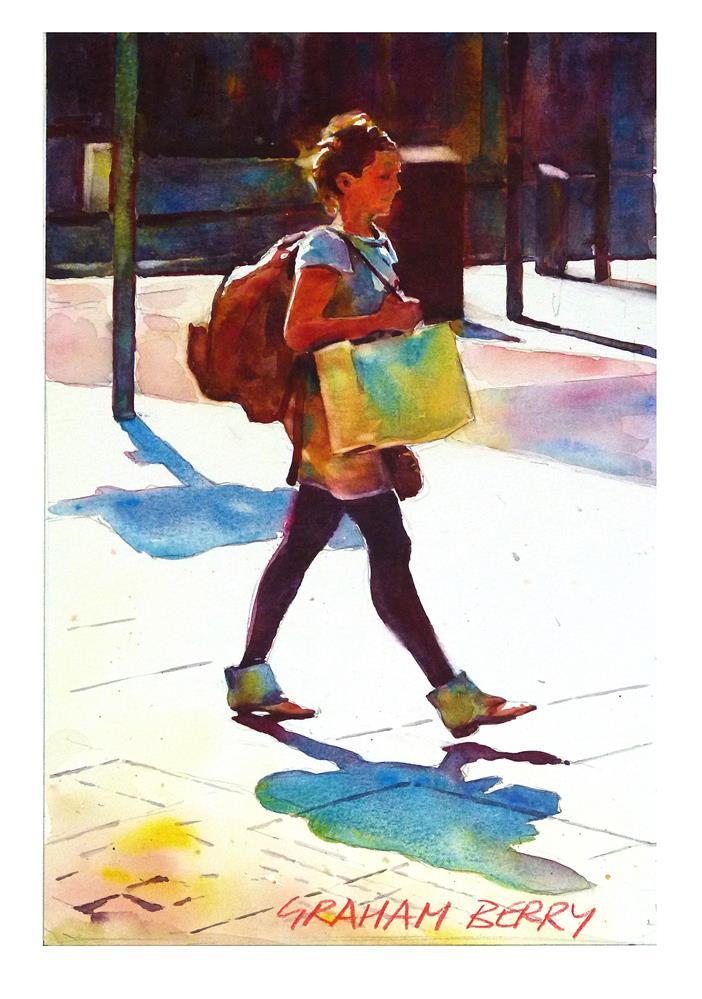 """""""Shopper."""" original fine art by Graham Berry"""