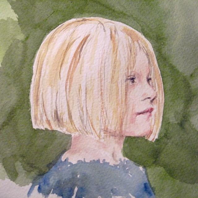 """Young Girl, study"" original fine art by Judith Freeman Clark"