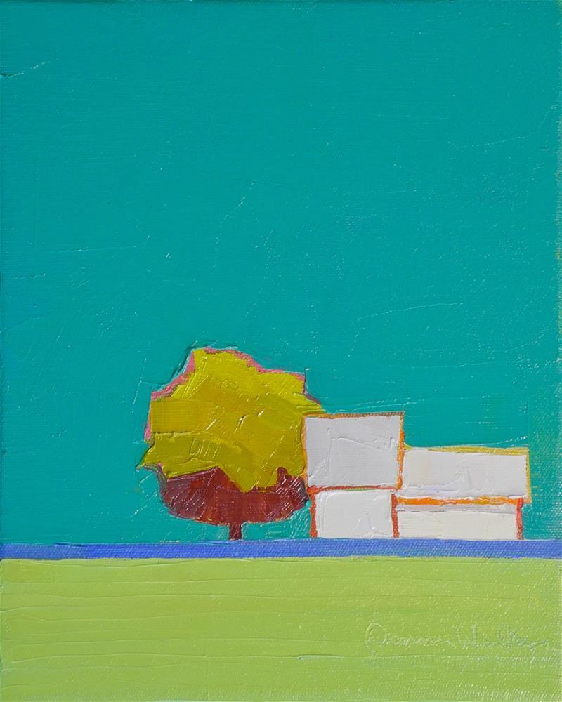 """Symphony in Blue & Green"" original fine art by Donna Walker"