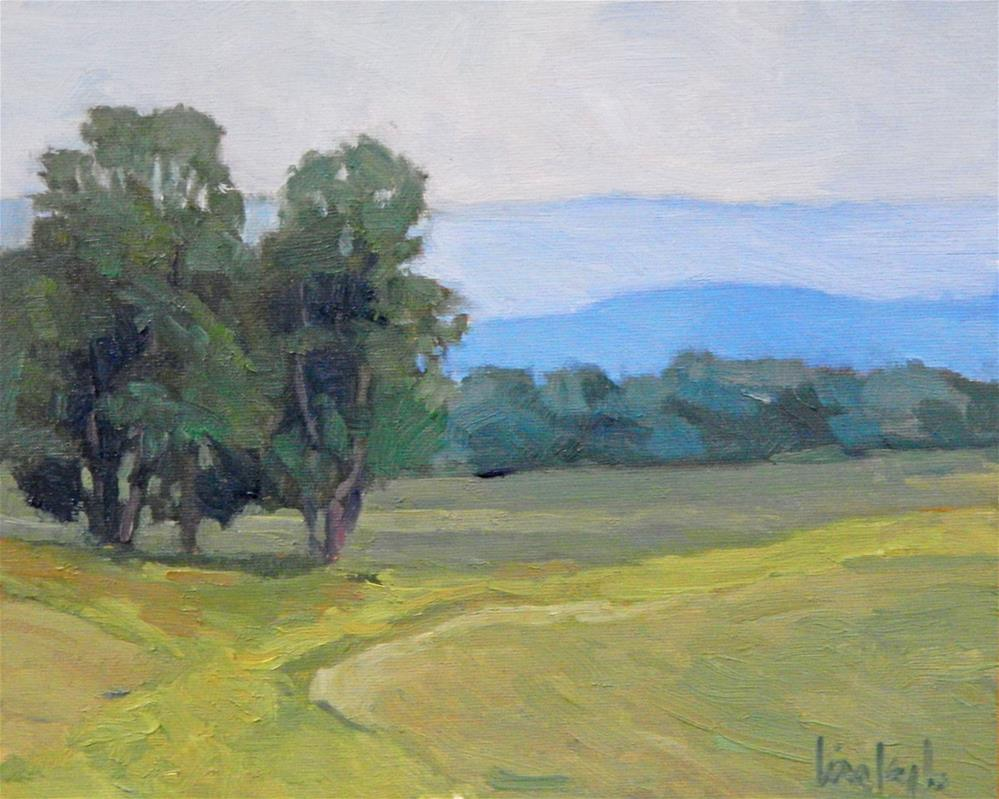"""Hazy Blue Hills"" original fine art by Lisa Kyle"