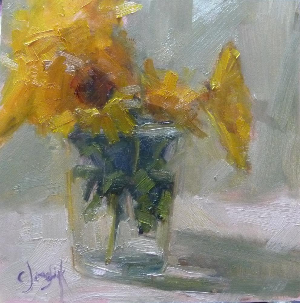 """Yellow Flowers"" original fine art by Carol Josefiak"
