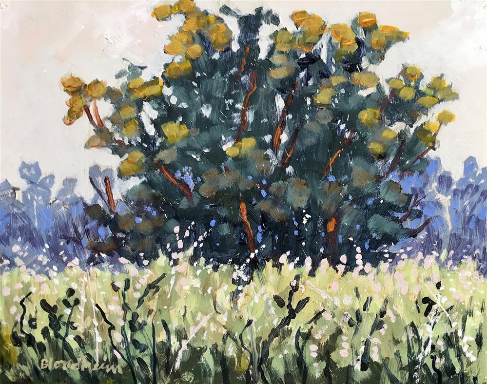 """""""Summer Sale Paintings Spring Field"""" original fine art by Linda Blondheim"""