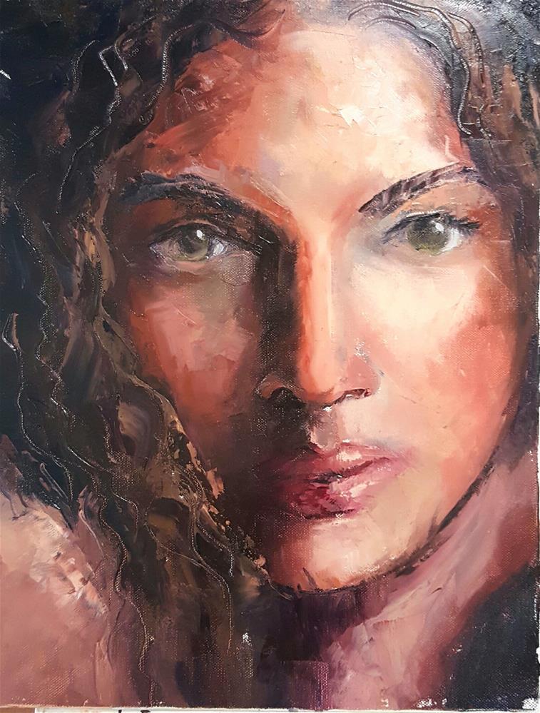 """Portrait of a lady"" original fine art by Ronel Alberts"