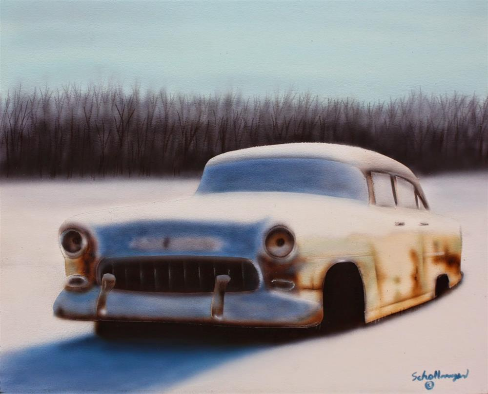 """Frozen '55"" original fine art by Fred Schollmeyer"