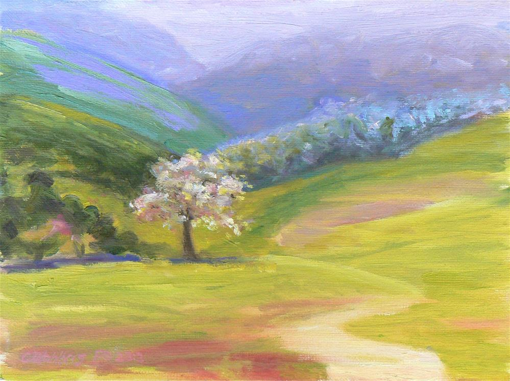 """Lone Blossom"" original fine art by Cynthia Mahlberg"