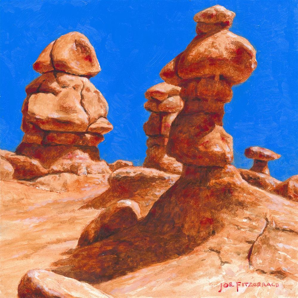 """Valley of the Goblins - Utah I"" original fine art by Joe Fitzgerald"