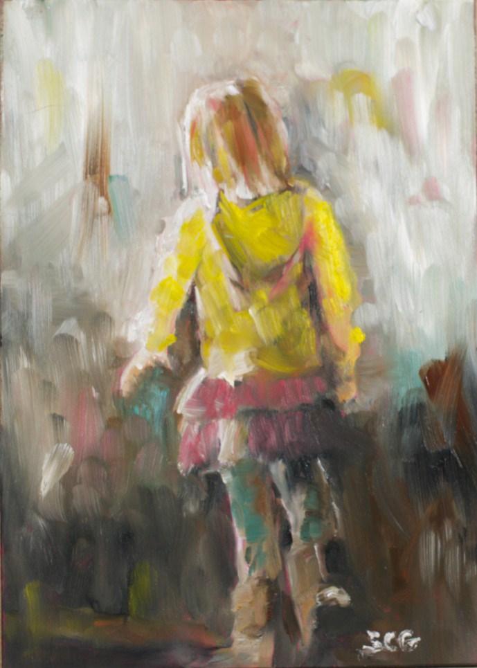 """""""Into the Sunshine"""" original fine art by Sue Churchgrant"""