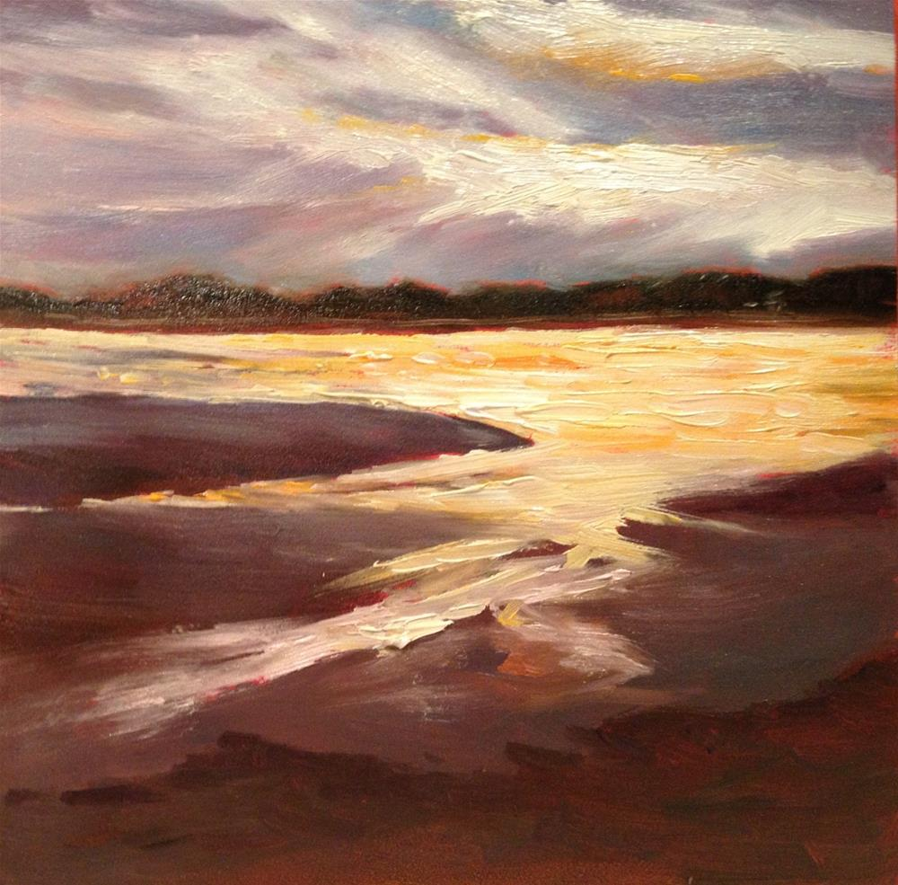 """Water into Gold"" original fine art by Claudia L Brookes"