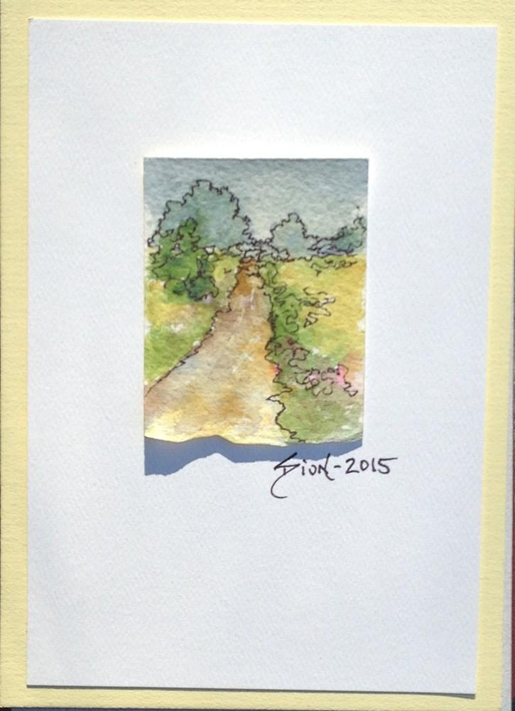 """Miniature Landscape #21"" original fine art by Sue Dion"