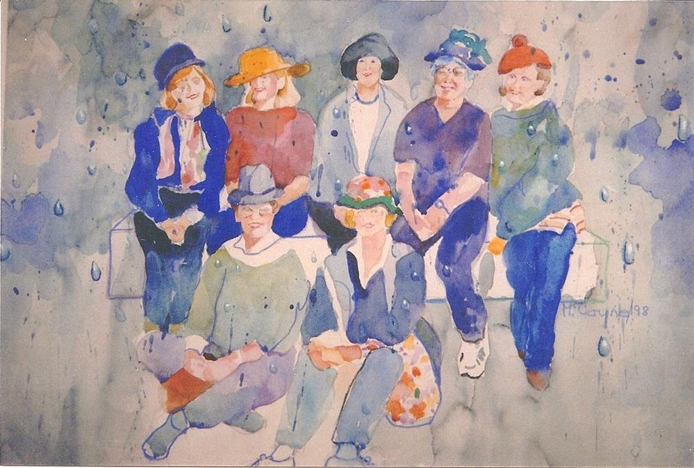 """smiling through"" original fine art by meribeth coyne"