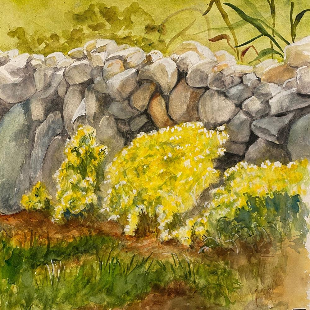 """Flowers in a Crannied Wall"" original fine art by Bunny Griffeth"