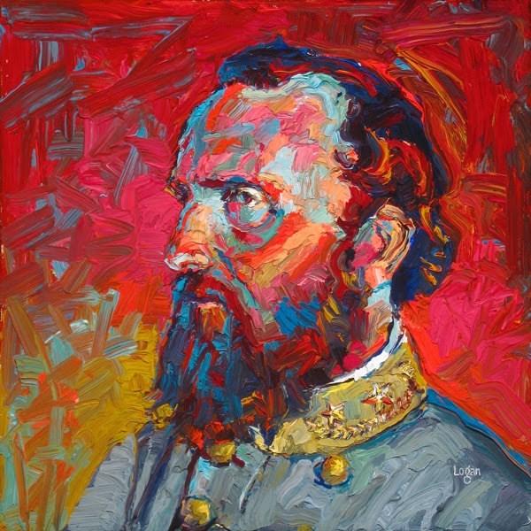 """General Stonewall Jackson"" original fine art by Raymond Logan"