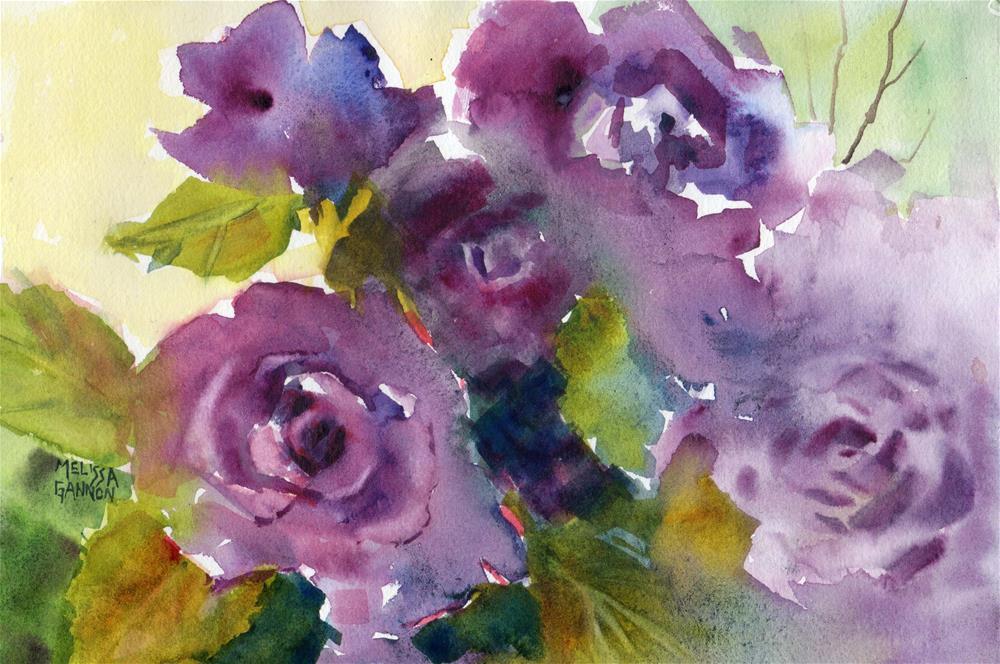 """Rose Fantasy"" original fine art by Melissa Gannon"