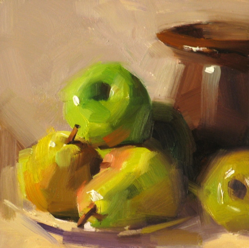 """""Autumn Sweet"" original fine art by Qiang Huang"