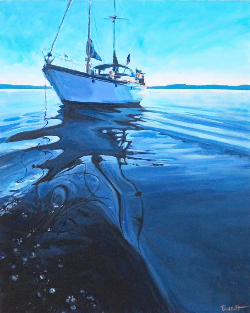 """Home On The Sea 2"" original fine art by Shari Buelt"