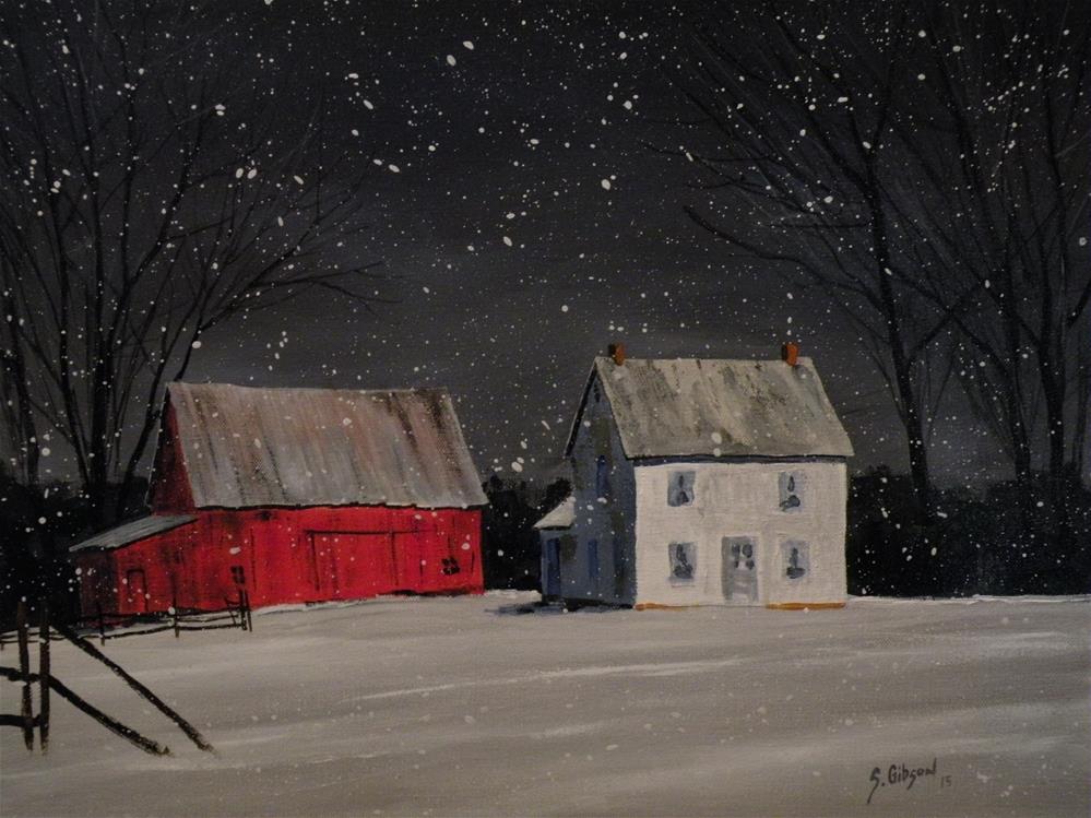 """Donna Fowlers Farm"" original fine art by Steve Gibson"