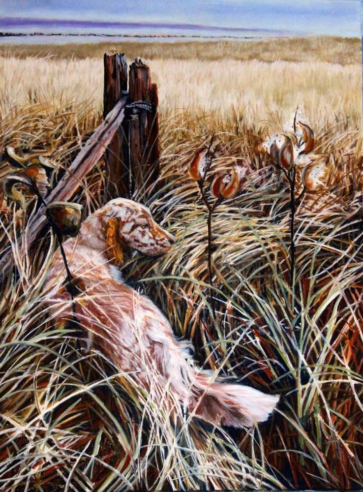 """""""Grace in the Tall Grass"""" original fine art by Jill Bates"""