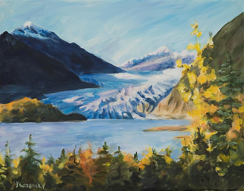 """Glacier in the Fall, Juneau, Alaska."" original fine art by Yulia Kazansky"