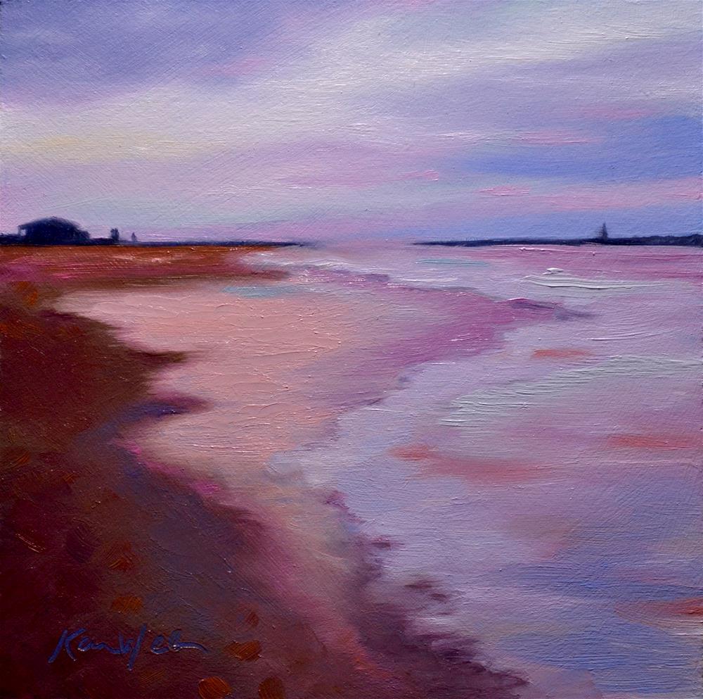 """""""Red Beach"""" original fine art by Karen Weber"""