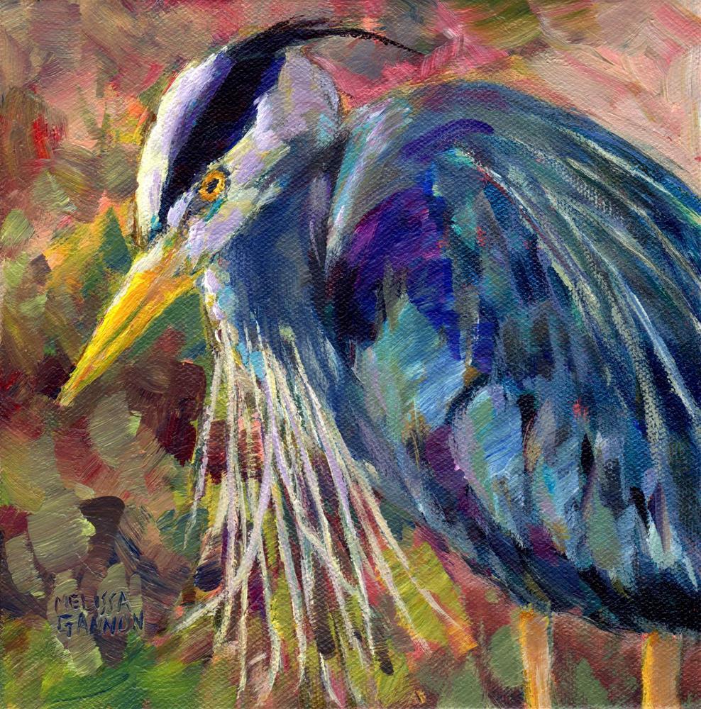 """""""Heron Sparkle"""" original fine art by Melissa Gannon"""