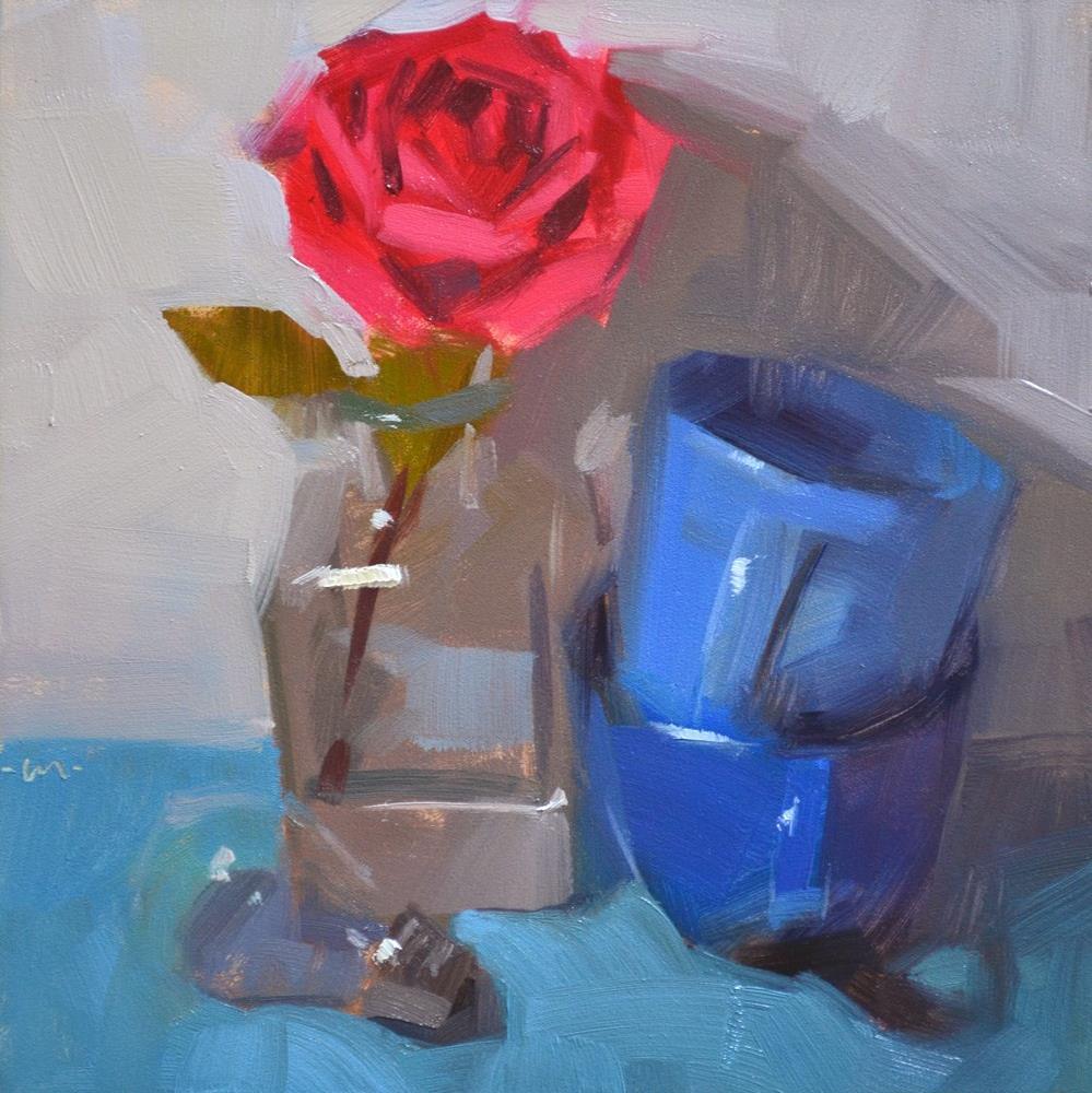 """A Rosy Point of View"" original fine art by Carol Marine"