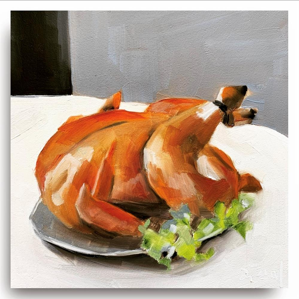 """""""47 Because I Made a Roasted Chicken Last Night"""" original fine art by Jenny Doh"""