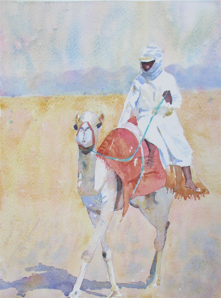 """Across the desert"" original fine art by Yolanda Moreno"