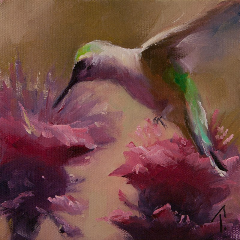 """Hummer Study 2"" original fine art by Lori Twiggs"