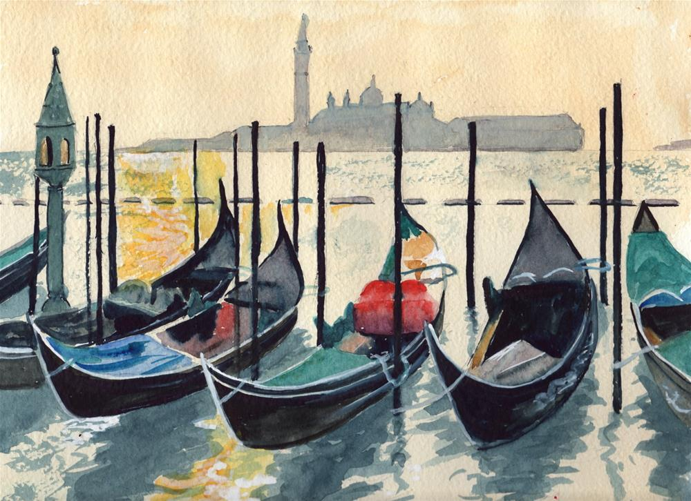"""gondolas"" original fine art by Bunny Griffeth"