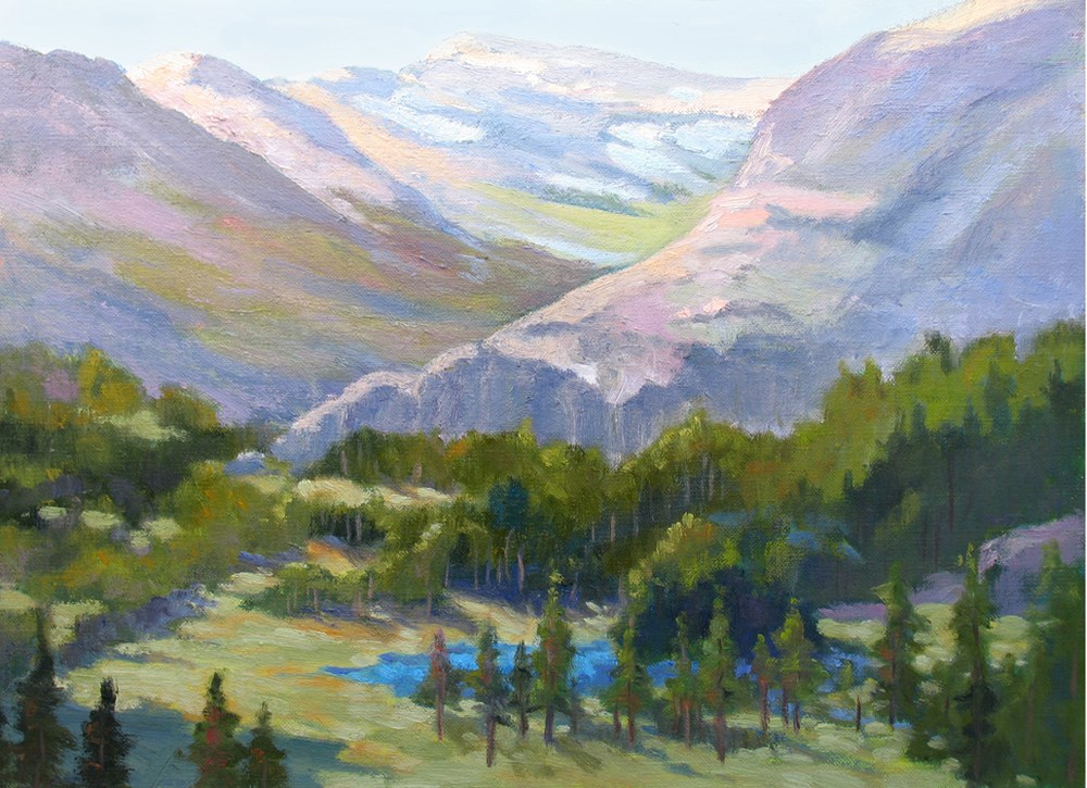 """Sierra Lake"" original fine art by Rhett Regina Owings"
