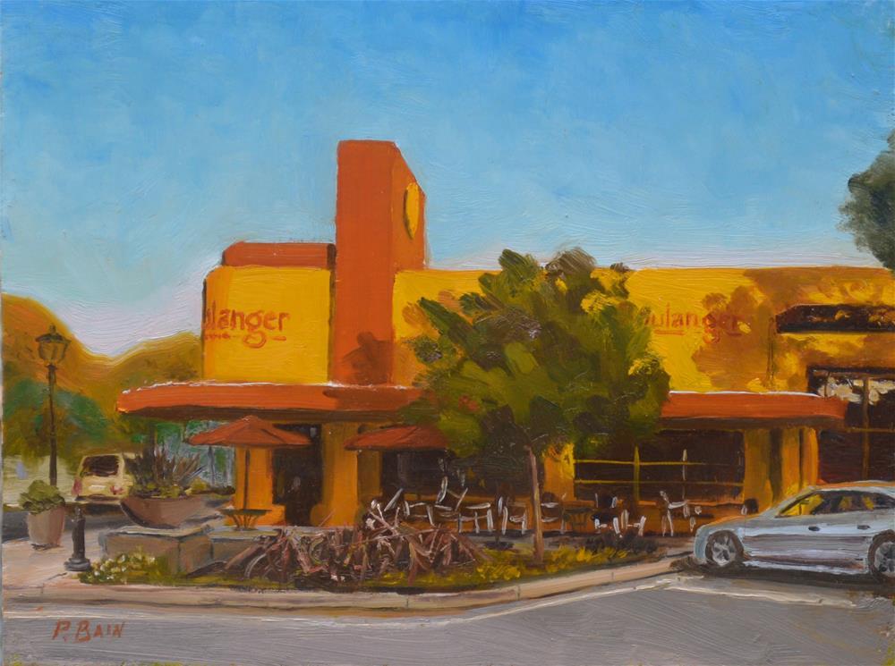 """""""Le Boulanger"""" original fine art by Peter Bain"""