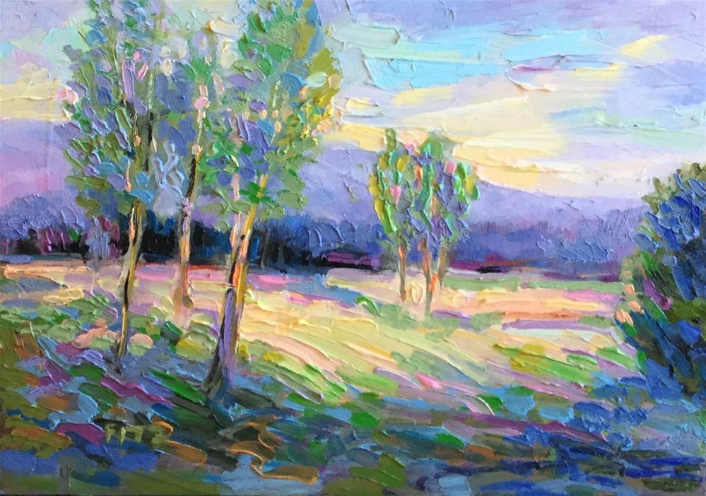 """Impasto Landscape 33"" original fine art by Charlotte Fitzgerald"