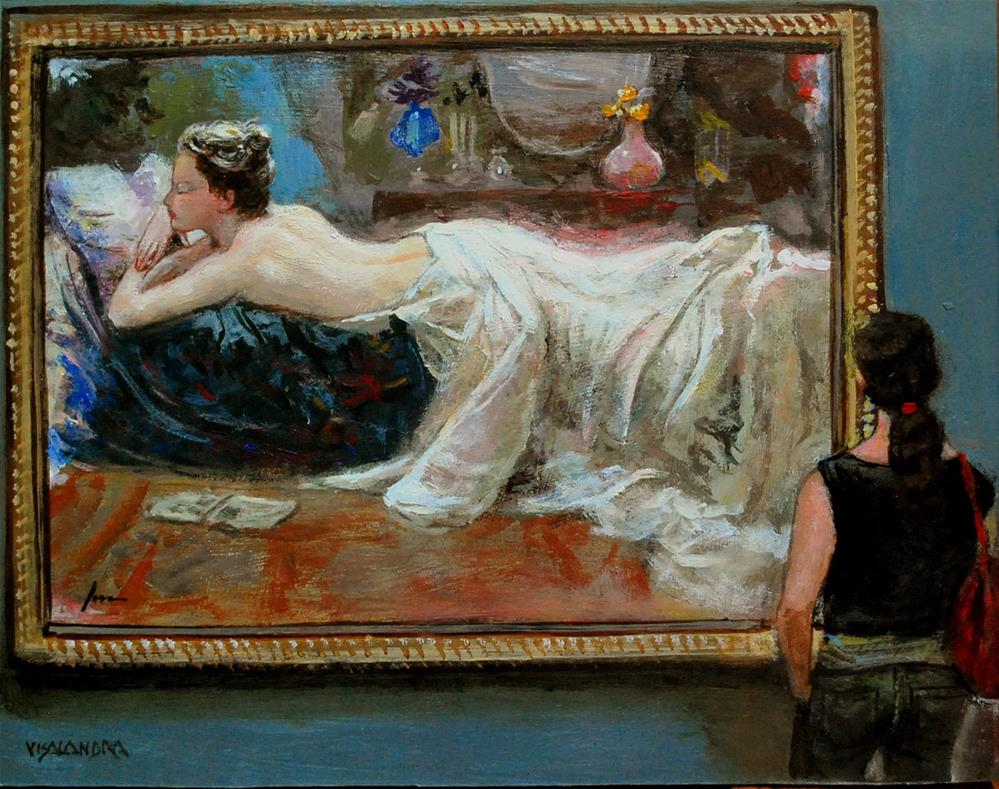 """museum visitor 1"" original fine art by vishalandra dakur"
