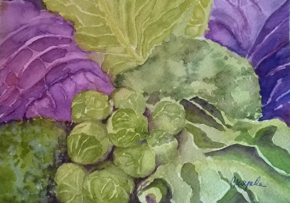 """The Garden Patch"" original fine art by Crisynda Buss"
