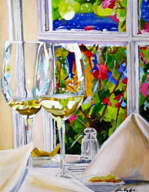 """Window Seat"" original fine art by JoAnne Perez Robinson"