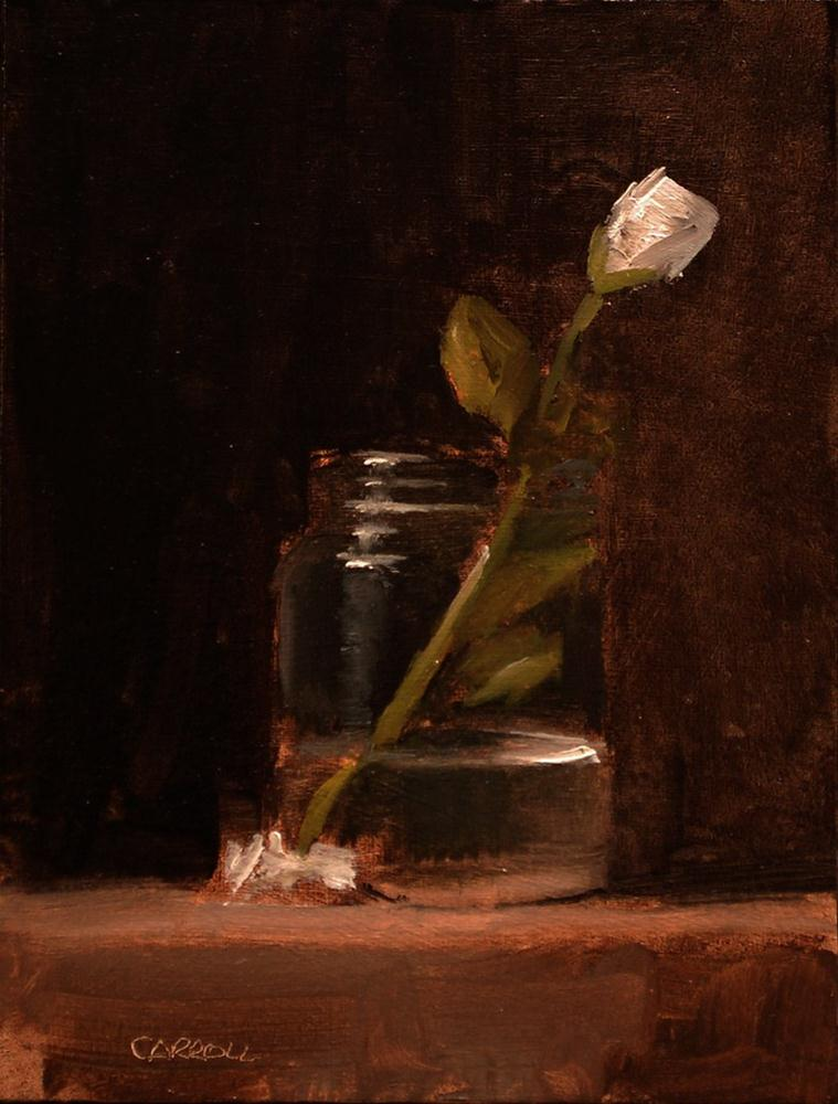 """Rose in Jam Jar - study"" original fine art by Neil Carroll"
