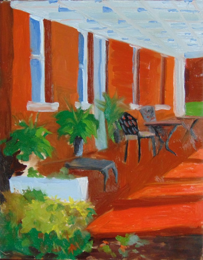 """""""Oder House at Fort Monroe"""" original fine art by Catherine Kauffman"""