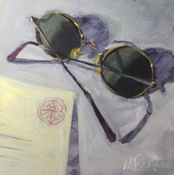 """The Postcard"" original fine art by Mary Pargas"