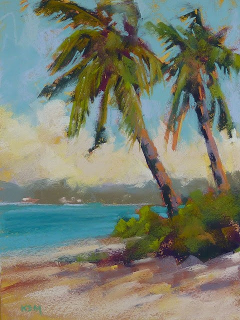 """Beach Week...How to Paint a Sunny Day"" original fine art by Karen Margulis"