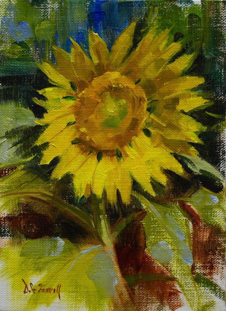 """""""Sunflower Study"""" original fine art by Donna C Farrell"""