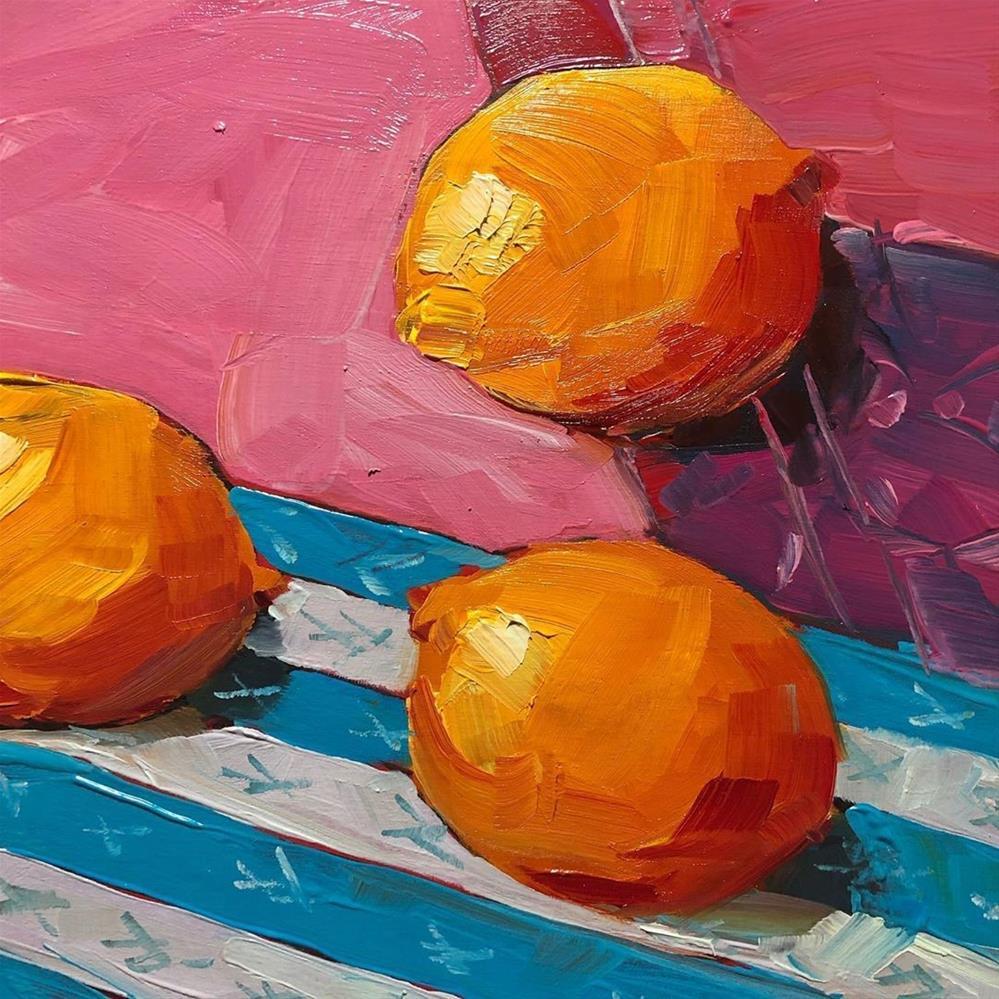 """1270: Pink and Zesty"" original fine art by Brian Miller"