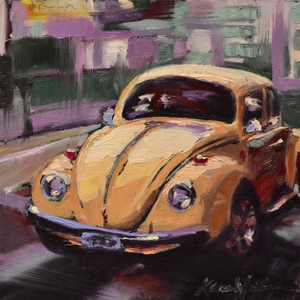 """""""Yellow Bug"""" original fine art by Karen Weber"""
