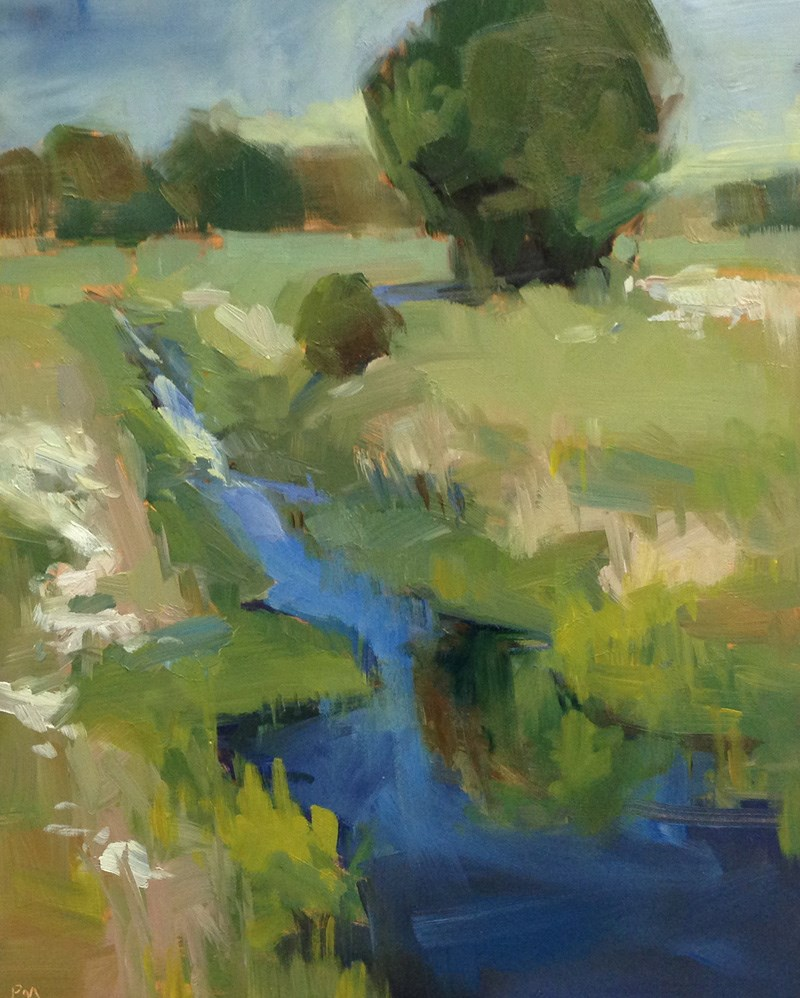"""""""Blue Lightning"""" original fine art by Patti McNutt"""